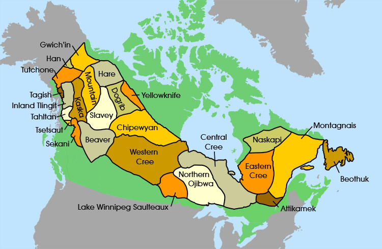 Free Resources Country Profile And Demographics Indigenous - Map of us and canada indiginous popullationns